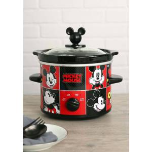 Select Brands Disney Mickey Mouse 2QT Slow Cooker  - Black/Red - Size: One Size