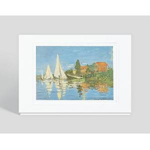 Gallery Collection Boat Race at Argenteuil Greeting Card - Business Birthday Cards