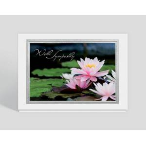 Gallery Collection Lotus Blossom Sympathy Card - Greeting Cards
