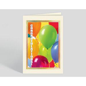 Gallery Collection Shiny Balloon Congrats Card - Greeting Cards