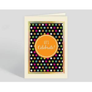 Gallery Collection Polka Dot Celebration Congratulations Card - Greeting Cards