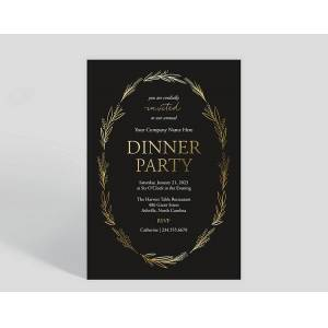 Gallery Collection Floral Framed Corporate Event Invitation - Greeting Cards