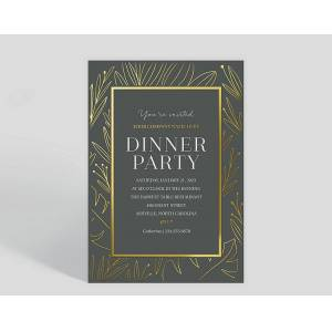 Gallery Collection Botanical Border Corporate Event Invitation - Greeting Cards