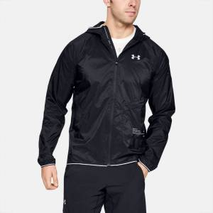 Under Armour Qualifier Storm Packable Jacket Men's Running Apparel Black, Size Large