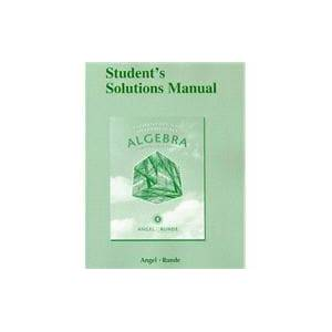 Pearson Student Solutions Manual for Elementary & Intermediate Algebra for College Students