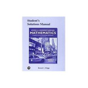 Pearson Student's Solutions Manual for Using & Understanding Mathematics