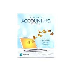 Pearson Horngren's Accounting