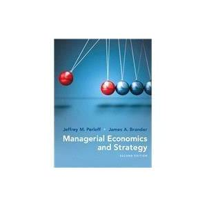 Pearson Managerial Economics and Strategy
