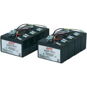 APC by Schneider Electric RBC12 Replacement Battery Cartridge #12 - UPS battery - 2 x lead acid - black - for P/N: DL5000RMT5U  SU5000R5TBX114  SU5000