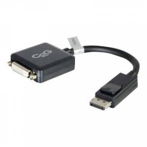 C2G 54321 8in DisplayPort Male to Single Link DVI-D Female Adapter Converter - Black (TAA Compliant)