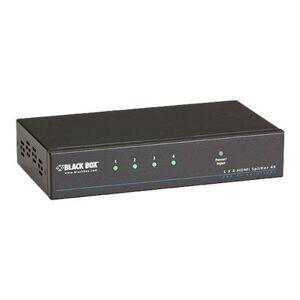 Black Box VSP-HDMI1X4-4K 4K HDMI Splitter 1 x 4 - Video/audio splitter - 4 x HDMI - desktop  rack-mountable - TAA Compliant