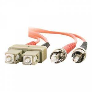 C2G 36475 SC-ST 62.5/125 OM1 Duplex Multimode PVC Fiber Optic Cable (LSZH) - Patch cable - ST multi-mode (M) to SC multi-mode (M) - 30 m - fiber optic