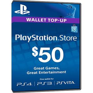 Sony Playstation Network Card PSN Key 50 Dollar [USA]