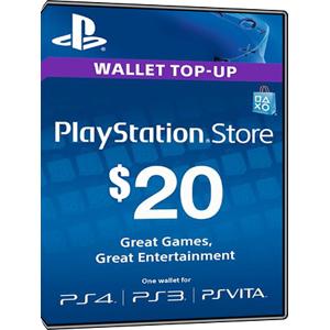 Sony Playstation Network Card PSN Key 20 Dollar [USA]