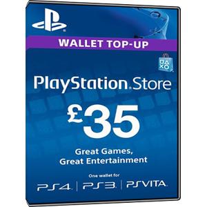 Sony Playstation Network Card PSN Key 35 Pound [UK]