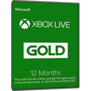 Microsoft Xbox Live Gold - 12 month subscription [Global]
