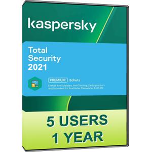 Kaspersky Total Security 2021 (5 Users / 1 Year)