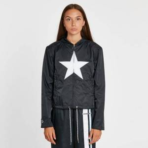 Converse Hooded Track Jacket  - Black - Size: Wl