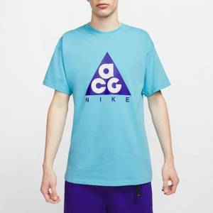 Nike Ss Tee Logo Giant  - Blue - Size: Medium