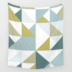 """Society6 Modern Geometric 15 Wall Hanging Tapestry by The Old Art Studio - Small: 51"""" x 60"""""""