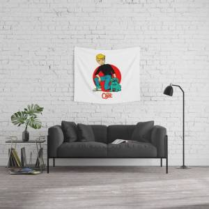 """Society6 Jonny Quest - Tv Series Wall Hanging Tapestry by G A R A B U T T O - Small: 51"""" x 60"""""""