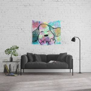 """Society6 Puppy Love Wall Hanging Tapestry by Artfullymade4u - Small: 51"""" x 60"""""""