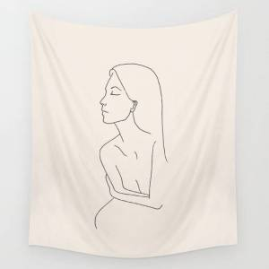 "Society6 Sur De Soi Wall Hanging Tapestry by Work By Vera - Large: 88"" x 104"""