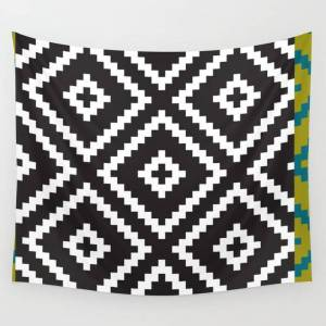 """Society6 Ikea Lappljung Ruta Inverse Wall Hanging Tapestry by Dizzy Moments - 88"""" x 104"""""""