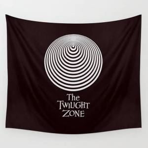 """Society6 The Twilight Zone Wall Hanging Tapestry by G A R A B U T T O - Small: 51"""" x 60"""""""
