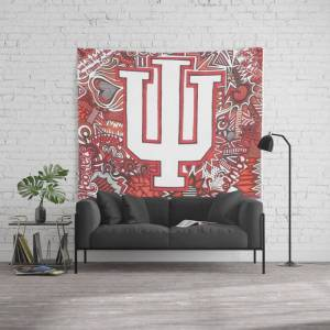 """Society6 Indiana University For Kimberly Wall Hanging Tapestry by Vera Hughes - Large: 88"""" x 104"""""""