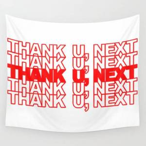 """Society6 Thank U, Next Wall Hanging Tapestry by Wecatchkillers - Small: 51"""" x 60"""""""