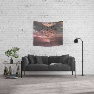 """Society6 Adventure Awaits Road Trip Wall Hanging Tapestry by Art4u - Small: 51"""" x 60"""""""