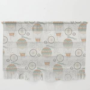 """Society6 Vintage Wonderland - Hot Air Balloon Wall Hanging by Shirts And Date Of Birth-by-frankenberg - Large 47"""" x 32 1/4"""""""