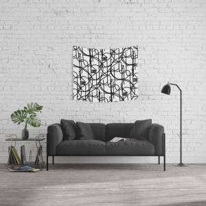 """Society6 """"oneline"""" Wall Hanging Tapestry by Nero100 - Small: 51"""" x 60"""""""