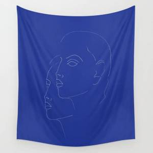 "Society6 Bleu Wall Hanging Tapestry by Work By Vera - Large: 88"" x 104"""