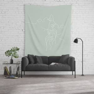 """Society6 Narcissus Wall Hanging Tapestry by Work By Vera - Large: 88"""" x 104"""""""