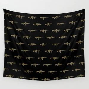 "Society6 Ar15 Pattern Wall Hanging Tapestry by 13 Tactical - Small: 51"" x 60"""