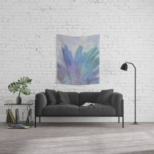 """Society6 Blue Tropical Dreams Wall Hanging Tapestry by Art4u - Small: 51"""" x 60"""""""