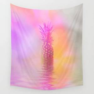 """Society6 Pineapple Pop Art Wall Hanging Tapestry by Art4u - Small: 51"""" x 60"""""""