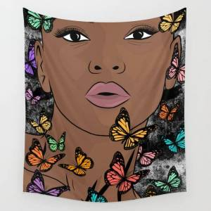 """Society6 You Give Me Butterflies Wall Hanging Tapestry by The King Gallery - Large: 88"""" x 104"""""""
