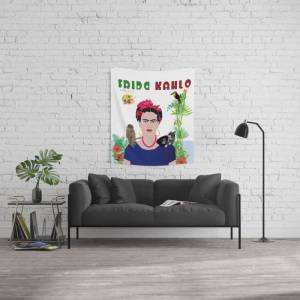 """Society6 Homage To Frida Kahlo Wall Hanging Tapestry by Design4u Studio - Small: 51"""" x 60"""""""