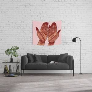 "Society6 Thank U, Next Wall Hanging Tapestry by Emmenjaan - Small: 51"" x 60"""