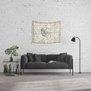 """Society6 Gemini Constellation Celestial Atlas Plate 15 - Alexander Jamieson Wall Hanging Tapestry by Forgotten Beauty - Small: 51"""" x 60"""""""