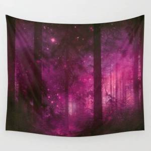"""Society6 Into The Purpur Light Wall Hanging Tapestry by Art4u - Small: 51"""" x 60"""""""