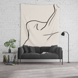 """Society6 Buste Wall Hanging Tapestry by Work By Vera - Large: 88"""" x 104"""""""
