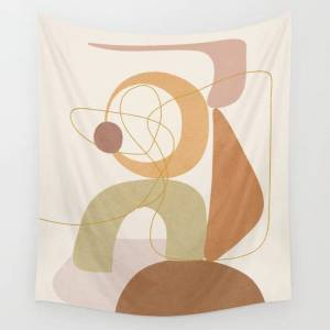 """Society6 Abstract Modern Art 15 Wall Hanging Tapestry by City Art - Small: 51"""" x 60"""""""