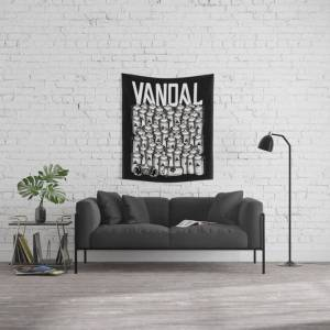 """Society6 Vandal And Spray Cans Wall Hanging Tapestry by Vic4u - Small: 51"""" x 60"""""""