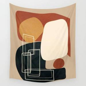 "Society6 Abstract Shapes No.15 Wall Hanging Tapestry by City Art - Small: 51"" x 60"""
