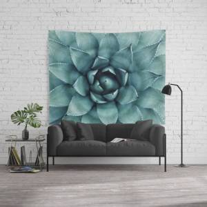 """Society6 Aloe Green Agave Wall Hanging Tapestry by Chilling Nation - Large: 88"""" x 104"""""""
