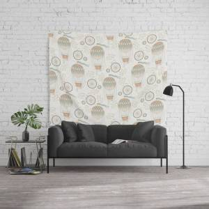 """Society6 Vintage Wonderland - Hot Air Balloon Wall Hanging Tapestry by Shirts And Date Of Birth-by-frankenberg - 88"""" x 104"""""""